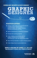CSUSB Rec Sports is now hiring: Graphic Designer Flyer
