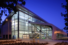 Photo of Rec Center Entrance at Night